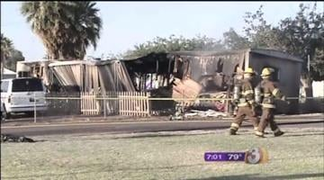 Five people escaped an early morning fire that destroyed two mobile homes in Avondale Tuesday. By Catherine Holland