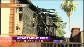 Several Phoenix residents are left with nothing after a fire tore through not one, but two apartment buildings Saturday morning. By Catherine Holland