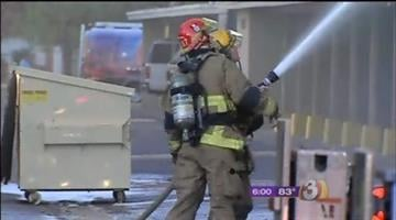 Police are talking to a 12-year-old girl in connection with a three-alarm fire that ripped through a Phoenix apartment complex early Monday morning. By Catherine Holland