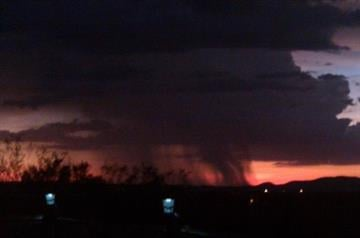 Image of a monsoon storm taken from Sahuarita, AZ. By Natasha Lewis