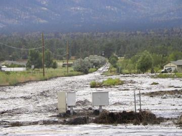Flooding on Highway 89 at Kevins Way By Jennifer Thomas