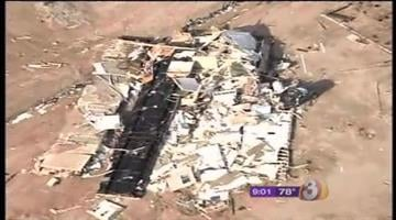 A Tonopah man is lucky to be alive after a massive storm ripped his home apart, leaving behind only the front porch. By Catherine Holland
