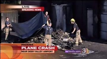 A small plane crashed early Wednesday morning at Deer Valley Airport. By Catherine Holland