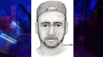 Sketch of suspect By Jennifer Thomas