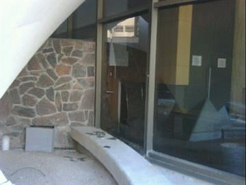 Damage caused when MCSO detonated suspicious backpack at Board of Supervisors auditorium By Jennifer Thomas