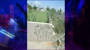 It is estimated that Joel Delgado has committed graffiti at more than 300 locations in Phoenix. By Jennifer Thomas