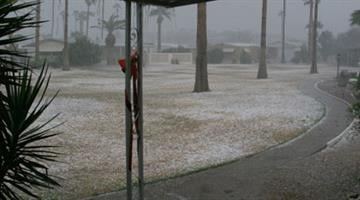 Hail at Central Park Village at Bell Road and Central Avenue By Jennifer Thomas