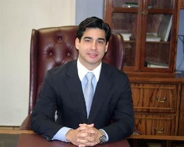 Nogales Mayor Octavio Garcia Von Borstel in his City Hall office on Monday. By Bob Richardson