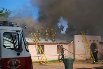 House fire near 37th Street and Thunderbird Road By Jennifer Thomas
