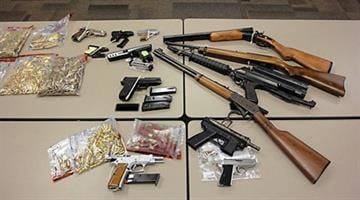 Agents seized a number of weapons following the execution of six federal search warrants related to the investigation. By Jennifer Thomas