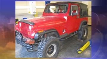 A Jeep Wrangler belonging to one of the victims was found Friday. By Jennifer Thomas