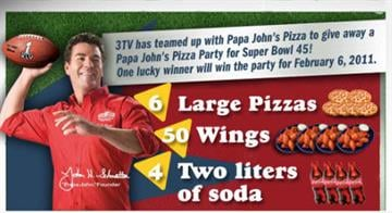 """Like"" facebook.com/phoenixmedia facebook page and be entered to win a pizza party for Super Bowl from Papa John's Pizza. By Lori Hollenback"