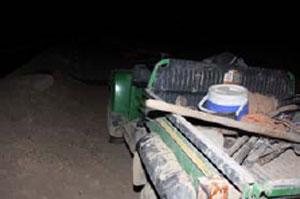 Deputies found Mauricio Gonzales' abandoned work vehicle. By Jennifer Thomas
