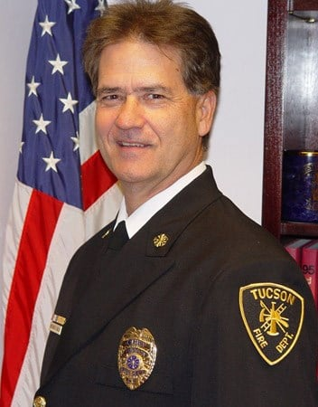 Patrick Kelly was chosen to take over the Tucson Fire Department in October, 2008. By Bryce Potter