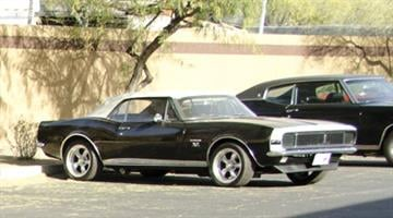 Evan Longoria's black 1967 Camaro RS with a white vinyl top was stolen from Chandler. By Jennifer Thomas