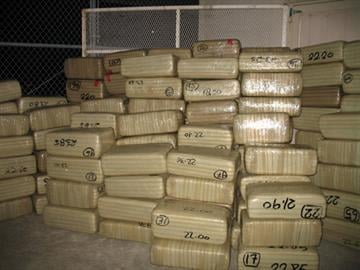 A hidden compartment contained 152 bundles of marijuana. By Jennifer Thomas