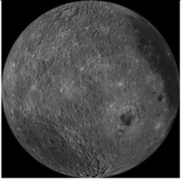 The lunar farside as never seen before! LROC WAC orthographic projection. By Belo Content KTVK