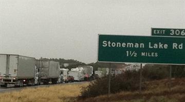 Northbound Interstate 17 was closed at Stoneman Lake Road. By Jennifer Thomas