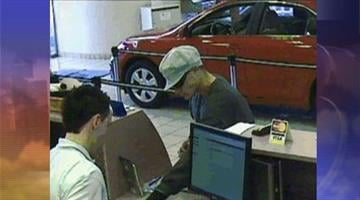 Surveillance photo of suspect at First Credit Union, 475 N. Gila Springs Blvd., Chandler By Jennifer Thomas