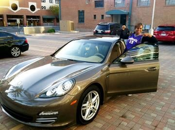 The 3rd Annual Bounce With the Suns is geared toward raising awareness for the Heath & Wealth Raffle. The raffle features more than 4,600 prizes, including this Porsche Panamera 4. By Jennifer Thomas