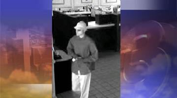 The Castaway Bandit is wanted in three robberies in the past two weeks. By Jennifer Thomas