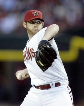 Arizona Diamondbacks' Ian Kennedy pitches against the Cincinnati Reds in the first inning of an MLB baseball game Friday, April 8, 2011, in Phoenix. (AP Photo/Paul Connors) By Paul Connors
