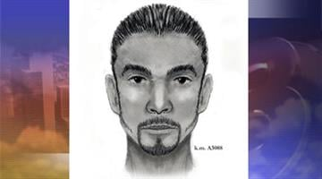 Composite sketch of one of the suspects By Jennifer Thomas
