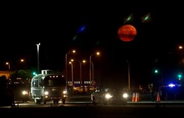 The astrovan makes it's way to the launchpad before the space shuttle Endeavour lifts off from Kennedy Space Center in Cape Canaveral, Fla., Monday, May 16, 2011. AP Photo/Morry Gash) By Morry Gash