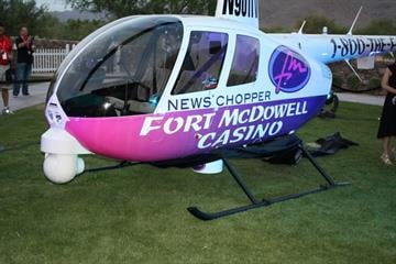 "The Fort McDowell Casino Chopper, a Robinson R-44 Newscopter helicopter, was unveiled on May 31. Bruce Haffner returned to the air on ""Good Morning! Arizona"" on June 2. By Catherine Holland"