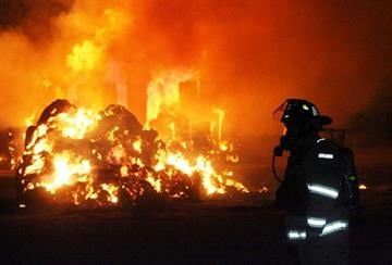 A hay fire started Sunday at a dairy north of Highway 238 and west of Green Road near Maricopa. By Jennifer Thomas