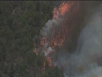 Aerial view of Monument Fire By Jennifer Thomas
