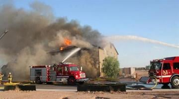 The two-story home near Honeycutt and Hartman roads was a total loss. By Jennifer Thomas