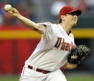 Arizona Diamondbacks pitcher Daniel Hudson delivers a pitch aginast the Philadelphia Phillies  during the first inning of a baseball game Tuesday, April 26, 2011, in Phoenix. (AP Photo/Matt York) By Matt York