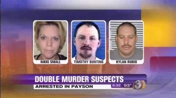 Nikki Small, Timothy Bunting Jr. and Kylan Rubio were arrested in Payson. By Catherine Holland