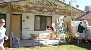 This home in the Heritage District was badly in need of renovation. Gilbert Cares volunteers came to the rescue, making the house one of their projects. By Catherine Holland