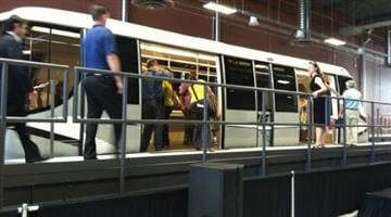 The first car of the new PHX Sky Train was unveiled Tuesday, Aug. 16. By Catherine Holland