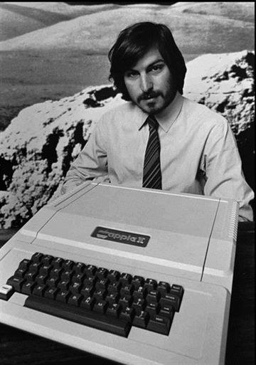This 1977 file photo shows Apple co-founder Steve Jobs as he introduces the new Apple II in Cupertino, Calif. By Catherine Holland