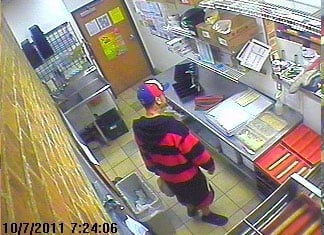 Suspect photo from Oct. 7 By Jennifer Thomas