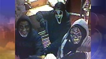 The suspects wore Halloween masks when they robbed the McDonald's restaurant on Oct. 27. By Jennifer Thomas