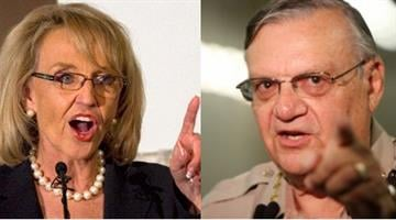 Gov. Jan Brewer and Maricopa County Sheriff Joe Arpaio By Catherine Holland