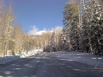 Driving up Snowbowl Road Dec. 14 By Jennifer Thomas
