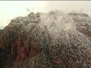 Bruce Haffner shows an aerial view of the Sedona area Dec. 13 By Jennifer Thomas