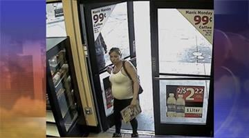 Phoenix Police detectives would like to contact this woman concerning the 'Baby Kathleen' case. This picture is from a convenience store in the area and the woman matches the description of the abandoned baby's mother. By Mike Gertzman
