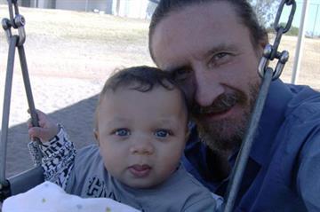 John Loxas and his grandson By Jennifer Thomas