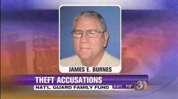 James Burnes, A retired National Guard colonel, has pleaded guilty to fraud and theft charges after embezzling more than $2 million from a charitable fund. By Jennifer Thomas