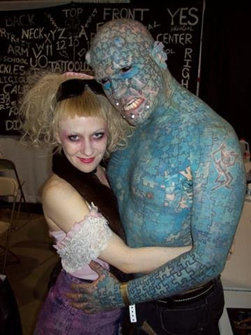 """""""The Enigma"""" and """"Serana Rose"""" are appearing at the Body Art Expo in Phoenix from Feb. 17 - 19 at the Arizona State Fairgrounds. By Mike Gertzman"""