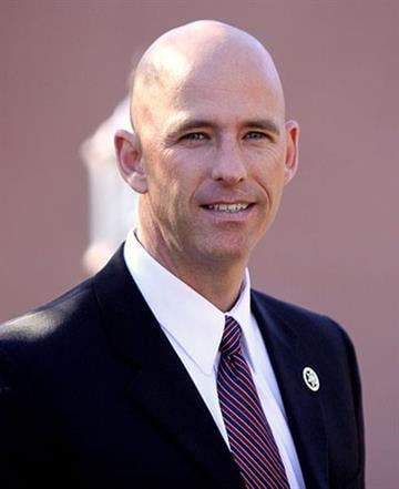 Paul Babeu speaking at a supporters rally for Mitt Romney in Paradise Valley, Arizona on December 6, 2011. By Belo Content KTVK