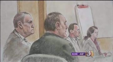61-year-old Identical twin brothers Dennis and Daniel Mahon are accused of sending a package bomb to Don Logan almost eight years ago. By Mike Gertzman