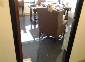 The building that houses the office of the Arizona attorney general was evacuated Tuesday after a water pipe exploded. By Jennifer Thomas