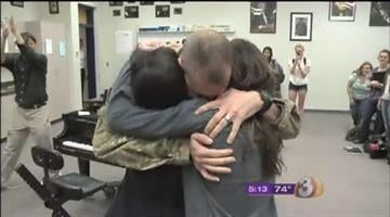 U.S. Army major and combat vet Tyler Willbanks surprises his children after a deployment to Afghanistan By Mike Gertzman